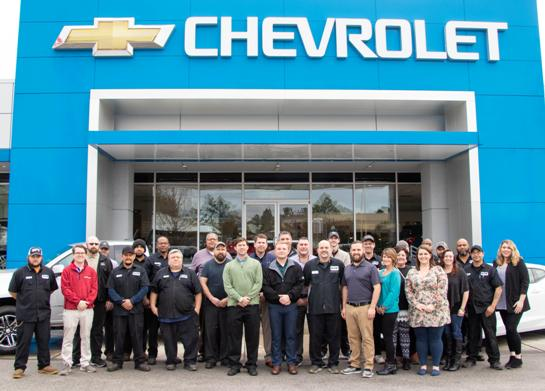 The Master Chevrolet-Cadillac team in Aiken